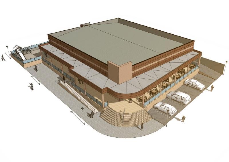 Construcción edificio industrial