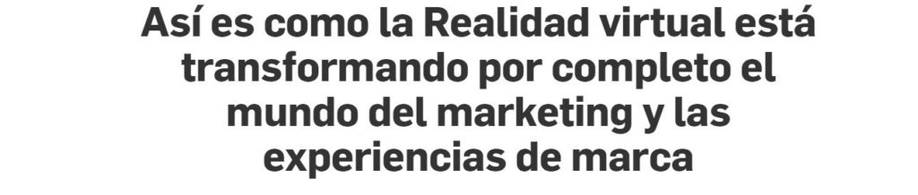 Puro marketing realidad virtual