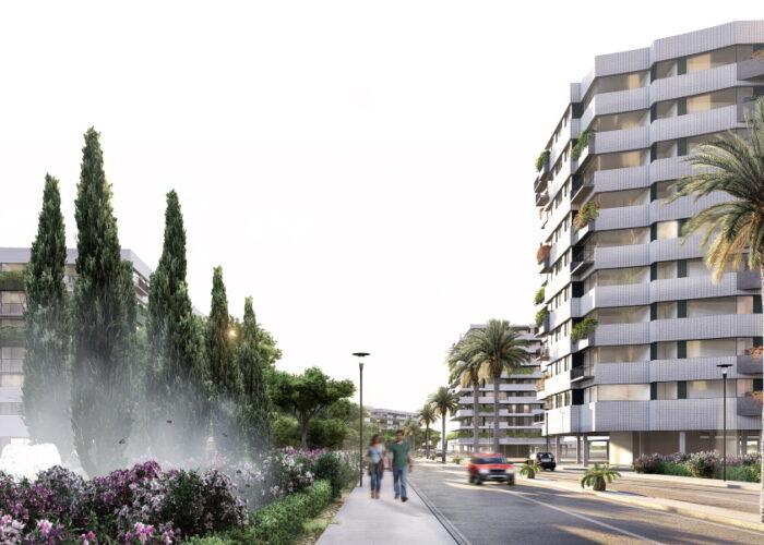 Eje verde proyecto urbanistico