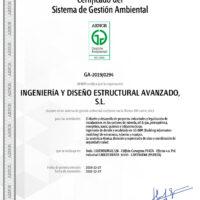 Certificado del Sistema de Gestión Ambiental - IDEA Ingeniería