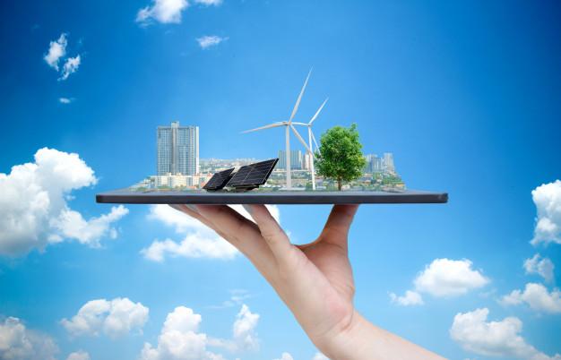 sistema-ecologico-energia-solar-ciudad-mano-que-sostiene-table